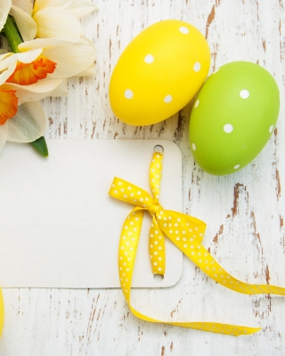 Easter Yellow Eggs Nest Wallpaper for Nokia Asha 300