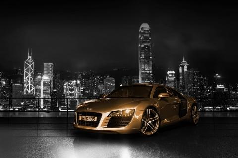Gold And Black Luxury Audi para Samsung S5367 Galaxy Y TV