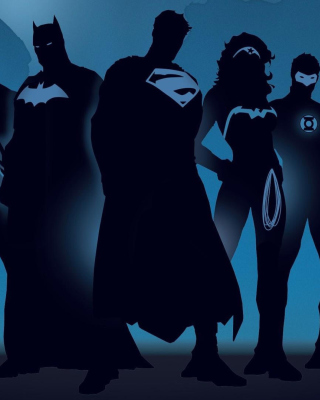 DC Comics Superheroes Wallpaper for Nokia Asha 311