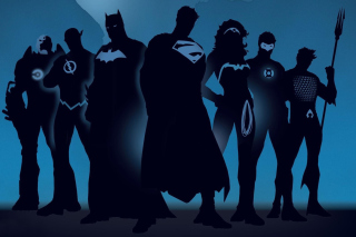 DC Comics Superheroes Background for Android 480x800