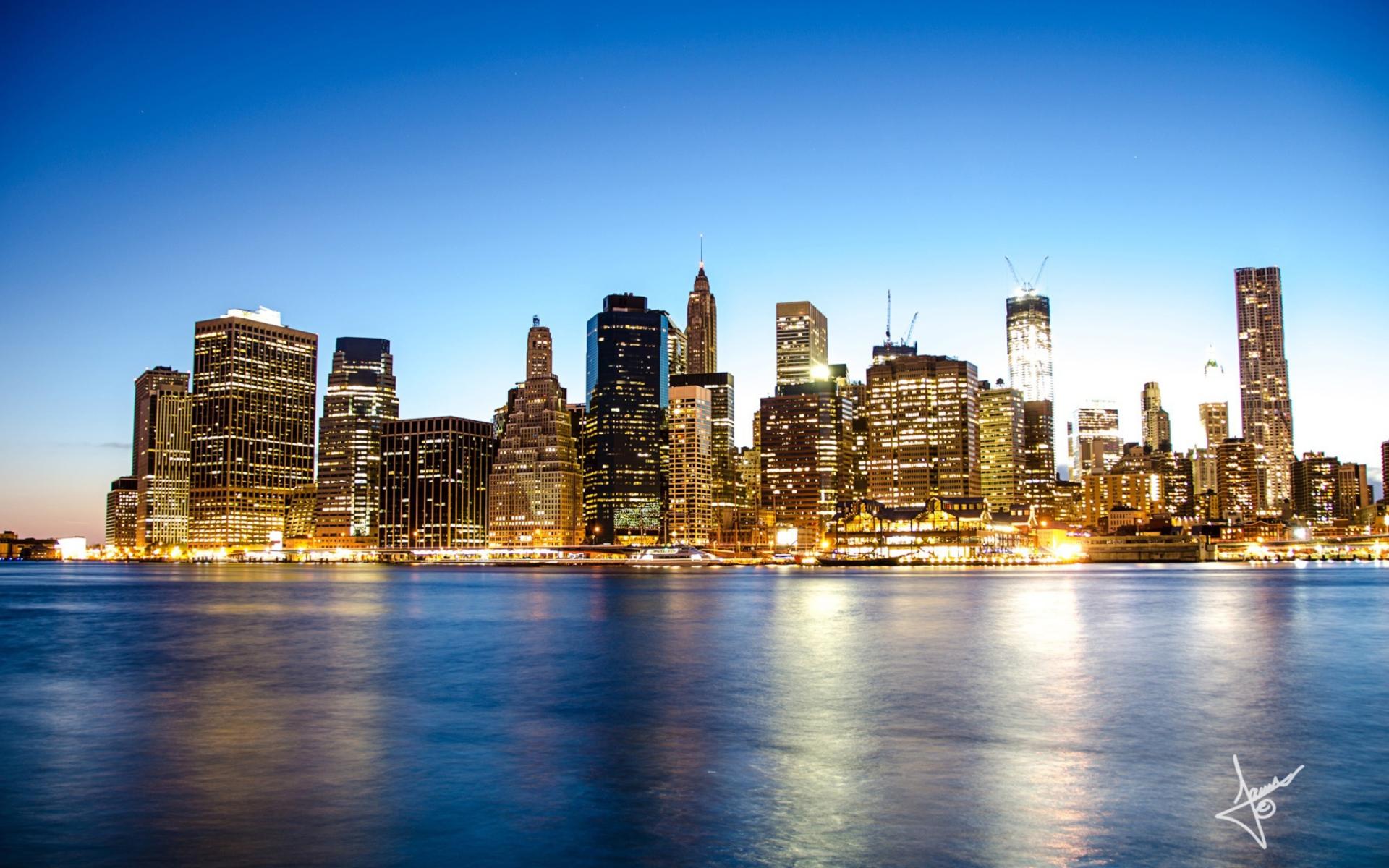 Manhattan Skyline para Widescreen Desktop PC 1920x1080 Full HD