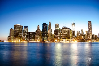 Manhattan Skyline Wallpaper for Android, iPhone and iPad