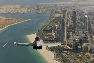 Eurofighter Typhoon Above Dubai sfondi gratuiti per cellulari Android, iPhone, iPad e desktop