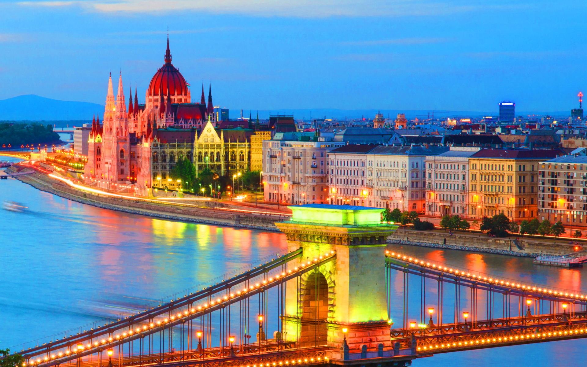 Budapest - Hungarian Parliament Building para Widescreen Desktop PC 1920x1080 Full HD