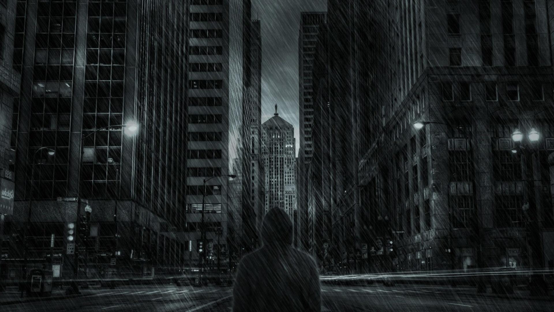 Dark City HD Wallpaper for Desktop 1920x1080 Full HD