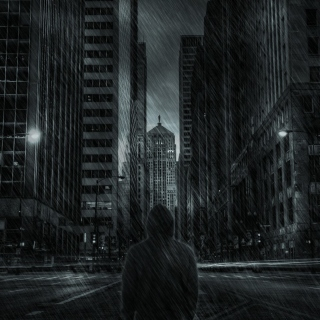 Dark City HD Background for iPad 3