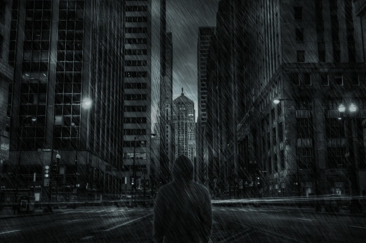 Dark City HD wallpaper