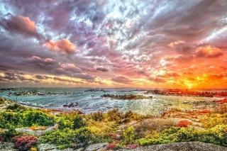 Free Hdr Harbor Landscape Picture for Android, iPhone and iPad
