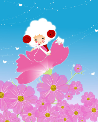 Flower Friends Wallpaper for HTC Titan