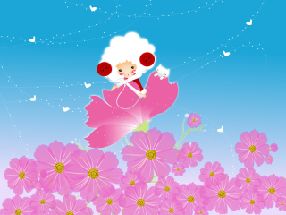Flower Friends sfondi gratuiti per 480x400