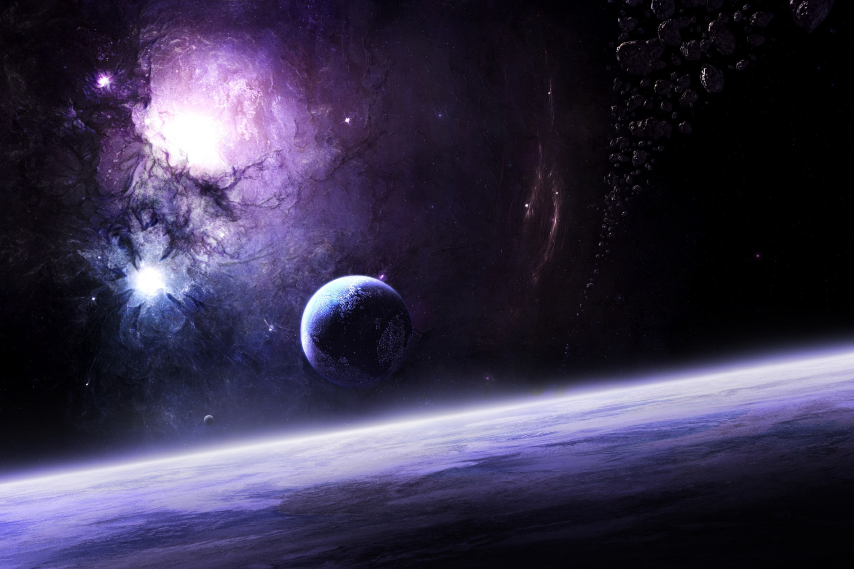planets and galaxies - HD 2880×1920