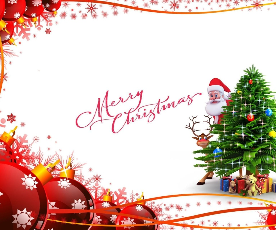 Screenshot №1 pro téma Merry Christmas Card 960x800