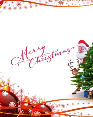 Merry Christmas Card - Fondos de pantalla gratis para iPhone 4S