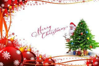 Merry Christmas Card Wallpaper for LG P970 Optimus