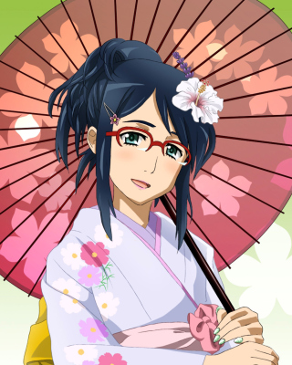 Anime Girl in Kimono Picture for HTC Titan