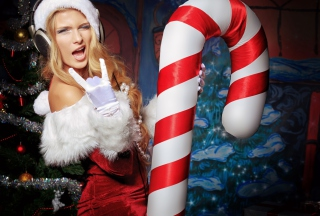 Very Cool Santa Girl sfondi gratuiti per HTC Desire