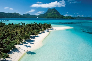 Pacific Ocean Tahiti Bay Wallpaper for Android, iPhone and iPad