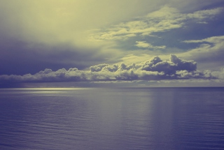 Sea And Clouds Background for Android, iPhone and iPad