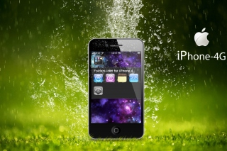 Rain Drops iPhone 4G Wallpaper for Android, iPhone and iPad