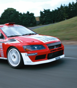 Mitsubishi Lancer Evolution WRC sfondi gratuiti per iPhone 6 Plus