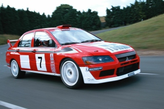Mitsubishi Lancer Evolution WRC Background for Android, iPhone and iPad