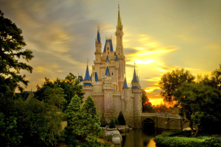 Disneyland Castle Background for Android, iPhone and iPad
