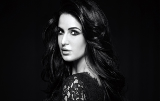 Katrina Kaif 2014 Black And White sfondi gratuiti per cellulari Android, iPhone, iPad e desktop