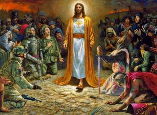 Soldiers & Jesus Picture for Android, iPhone and iPad