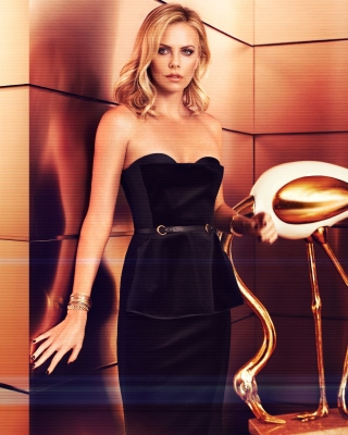 Charlize Theron on Oscar Awards sfondi gratuiti per Nokia X2-02