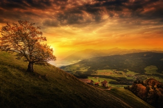Switzerland Autumn Scenery Wallpaper for Samsung Galaxy S5