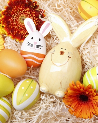 Easter Eggs Decoration with Hare papel de parede para celular para iPhone 6