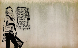 Graffiti Motivation Statement - Obrázkek zdarma pro Desktop Netbook 1366x768 HD