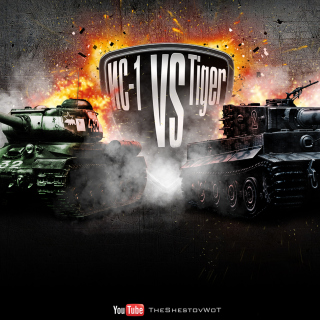 World of Tanks Tiger VS IC1 - Obrázkek zdarma pro iPad Air