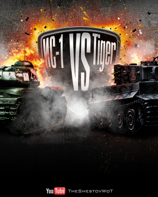 World of Tanks Tiger VS IC1 - Obrázkek zdarma pro iPhone 5C