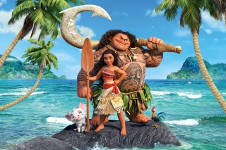 Moana Cartoon Background for Nokia XL
