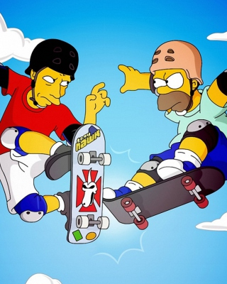 Homer Simpson and Tony Hawk Background for iPhone 6 Plus
