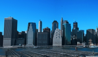 Manhattan Panoramic Wallpaper for Android, iPhone and iPad