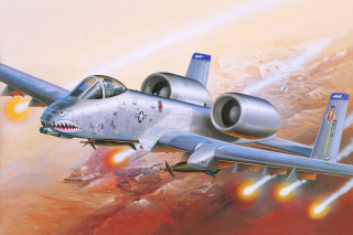 Fairchild Republic A 10 Thunderbolt II Background for Android, iPhone and iPad
