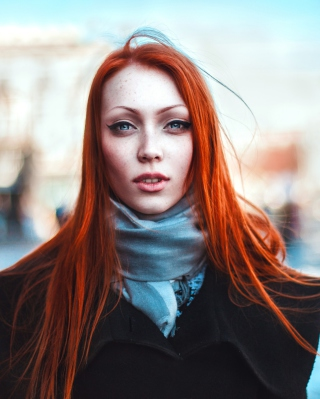 Gorgeous Redhead Girl Background for HTC Titan