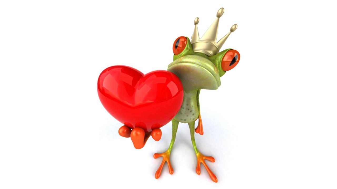 Valentine's Day Frog