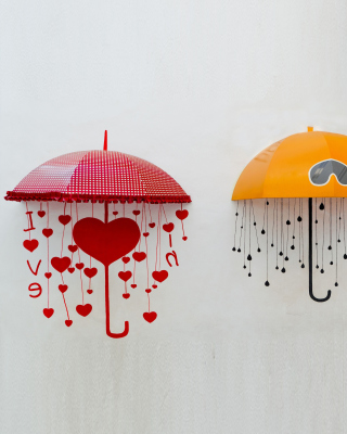 Two umbrellas Wallpaper for iPhone 5S