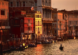 Atardecer Venecia Background for Android, iPhone and iPad