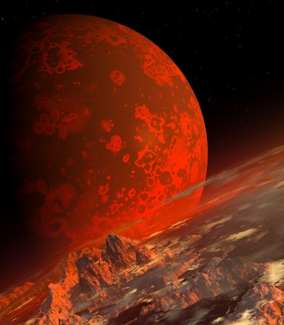 Red Planet Wallpaper for Nokia Asha 306