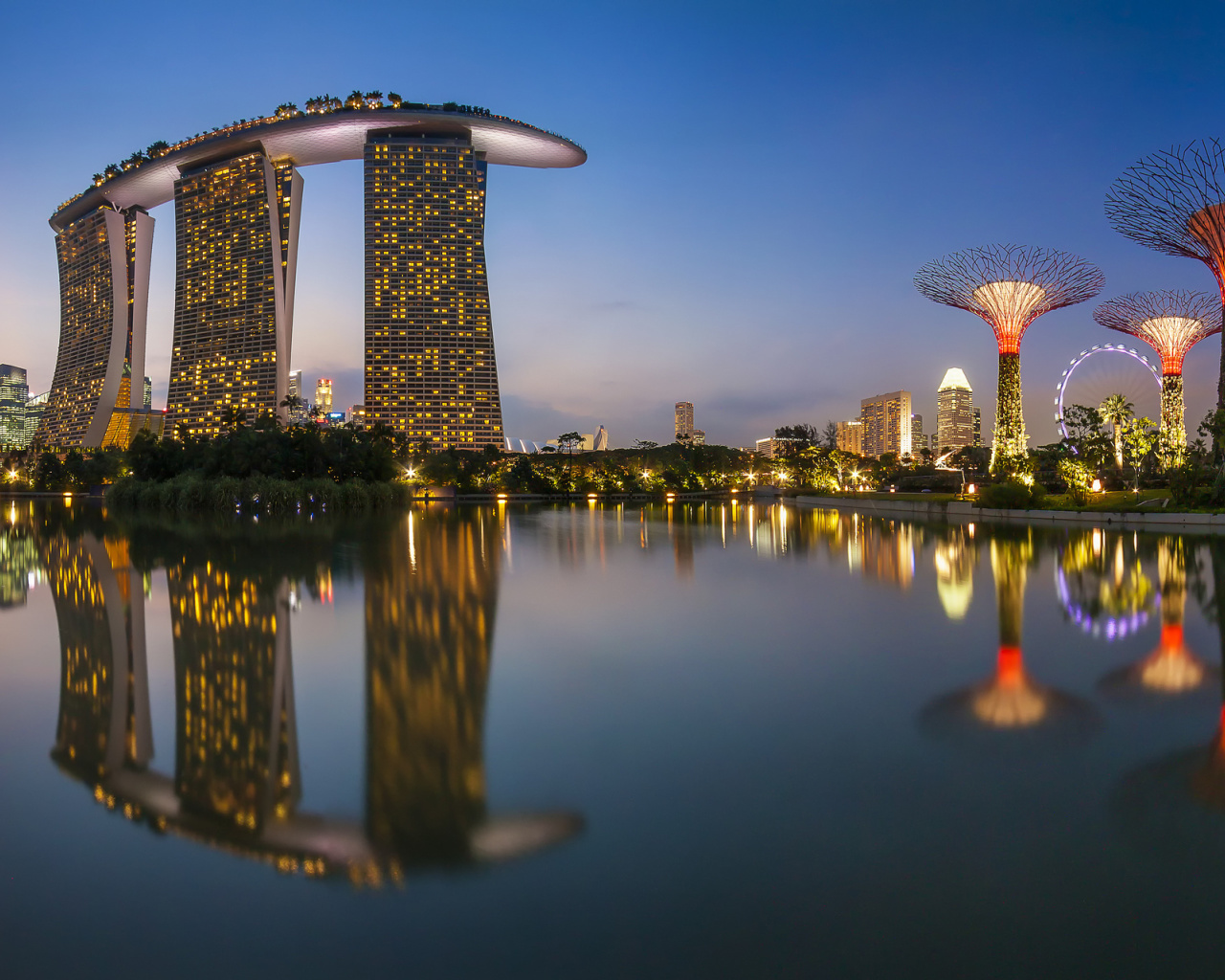 Sfondi Singapore Marina Bay Sands Tower 1280x1024