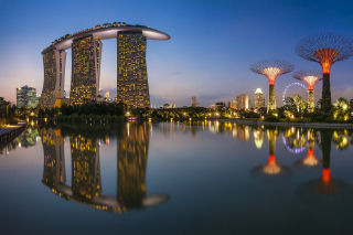 Singapore Marina Bay Sands Tower Wallpaper for Android, iPhone and iPad