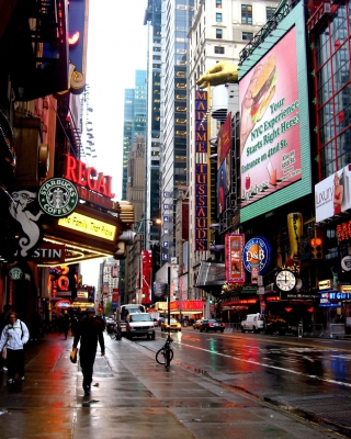 Street in Manhattan Borough, New york - Fondos de pantalla gratis para 320x480