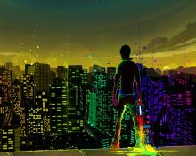 Big City Colorful Illustration para 220x176