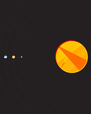 Solar System with Uranus Wallpaper for Nokia X3