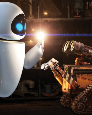 Kostenloses Wall E Meets Eve Wallpaper für iPhone 6 Plus