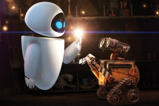 Wall E Meets Eve Background for Android, iPhone and iPad